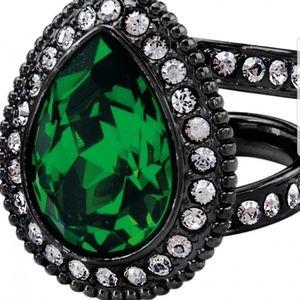 Brighton Swarovski crystal & Emerald green ring